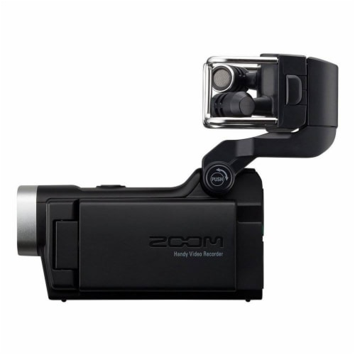 Zoom F1 Digital Audio Recorder with Lavalier Mic & Q8 Video Professional Camera Perspective: right