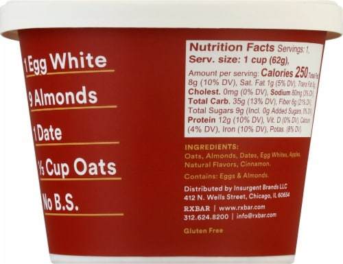 RX A.M. Oats Apple Cinnamon Oat Cup Perspective: right