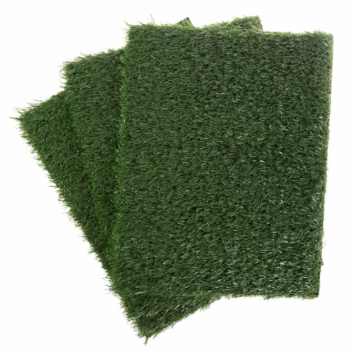 Replacement Grass Mats- Set of 3 Turf Pads for Puppy Potty Trainer Fake Grass is 18.5 x 14 Perspective: right