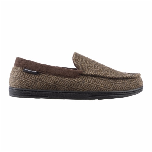 Isotoner® Men's Logan Moccasin Slippers Perspective: right
