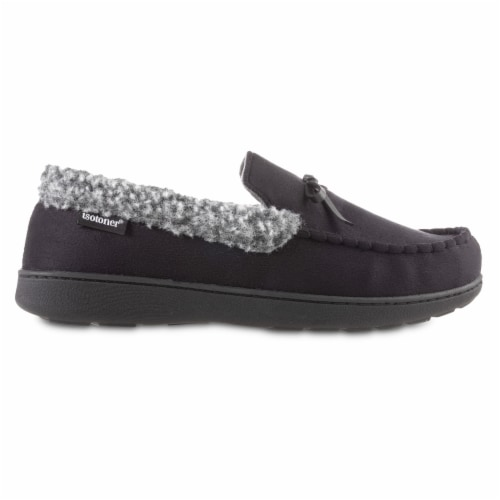 Isotoner® Microsuede Moccasin Men's Slippers Perspective: right
