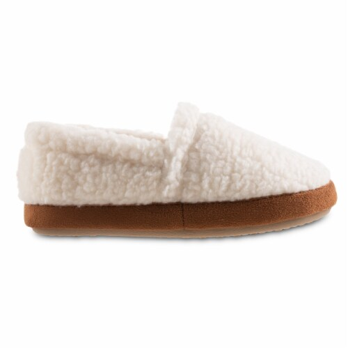 Isotoner® Happy Sheep Berber A-line Slippers - White Perspective: right