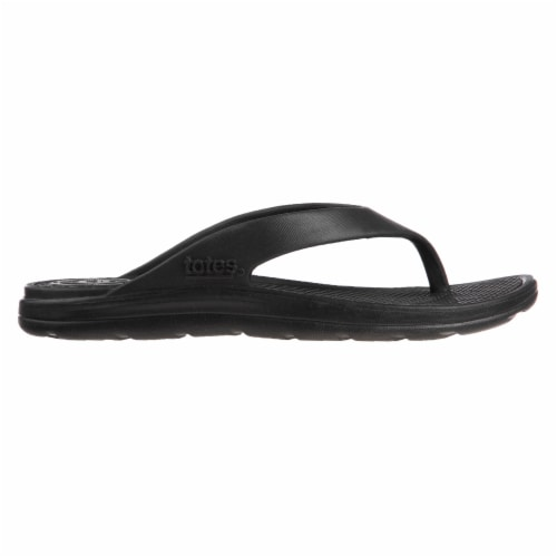 Totes Sol Bounce Ara Thong Flip Flops - Black Perspective: right