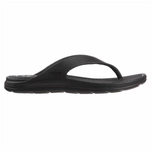 Totes Mens Sol Bounce Ara Thong Sandals - Black Perspective: right