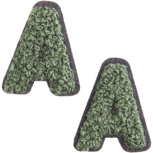 52 Count Iron On Alphabet Letter Patches A - Z For Jean Jacket Tote Back Tee Hat Perspective: right