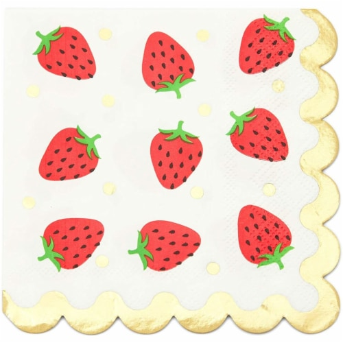 Fruit Cocktail Napkins, Summer Party Decorations (4 Designs, 5 x 5 In, 100 Pack) Perspective: right