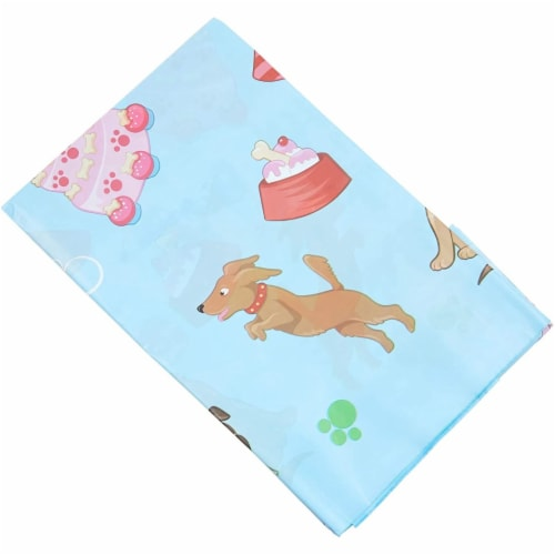 Blue Panda Puppy Dog Themed Party Table Covers (54 x 108 in, Rectangle, 3 Pack) Perspective: right