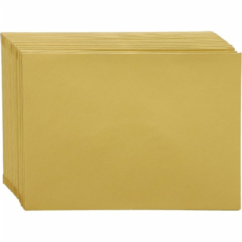 48x Blank Invitation Cards and Envelopes Wedding Baby Bridal Shower Gold 4x6 Perspective: right