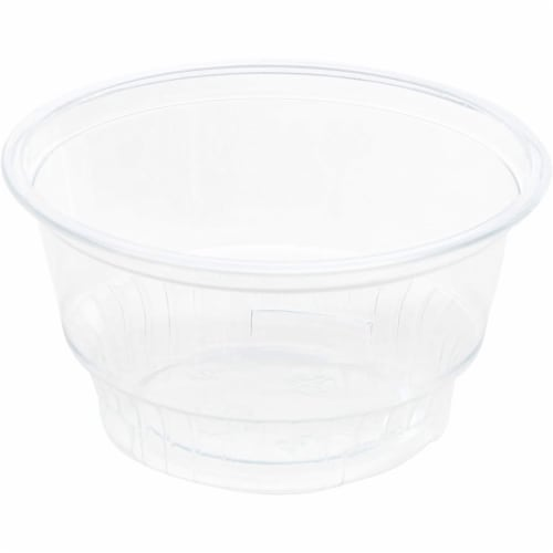 Clear Plastic Ice Cream and Yogurt Cups with Dome Lids (5 oz, 50 Pack) Perspective: right
