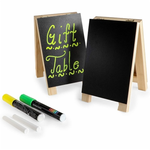 Chalkboard Easel Stand with Liquid Chalk Marker and White Chalk (2 Sets) Perspective: right