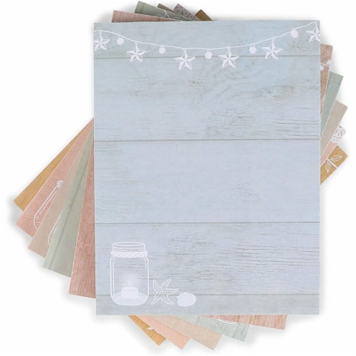 Memo Note Pads with Rustic Mason Jar Design (4.25 x 5.5 In, 6 Pack) Perspective: right