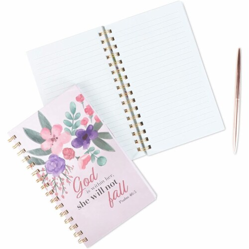 Spiral Notebook with Scripture (5 x 8.5 in, 2 Pack) Perspective: right