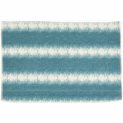 Striped Dining Table Runner and Placemats, Set of 6 (7 Pieces) Perspective: right