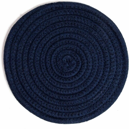 Cotton Trivet Potholder Set, Round Coasters in 4 Colors (7 Inches, 4 Pack) Perspective: right