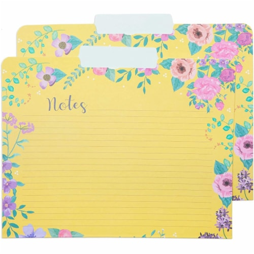 Decorative File Folders, 1/3 Cut Tab, Letter Size, Floral Notes Section (12 Pack) Perspective: right
