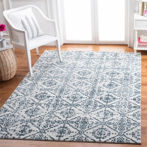 Safaveigh Martha Stewart Collection Isabella Area Rug - Navy/Ivory Perspective: right