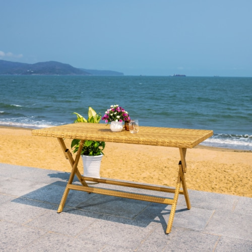 Akita Folding Table Natural / White Perspective: right
