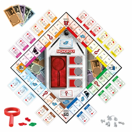 Hasbro Gaming Monopoly Crooked Cash Board Game Perspective: right