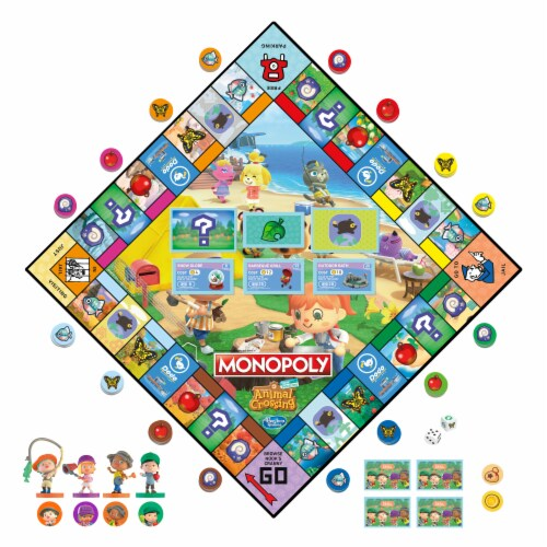 Monopoly Animal Crossing New Horizons Board Game Perspective: right