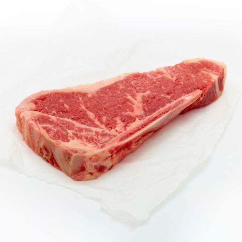 Beef Choice Strip Steak Family Pack Bone In Perspective: right