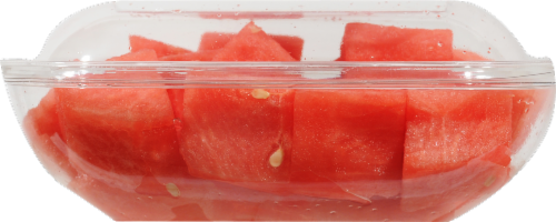 Seedless Cubed Watermelon - Large Fruit Cup Perspective: right