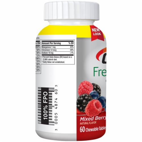 Centrum Adults Fresh & Fruity Mixed Berry Chewable Tablets Perspective: right