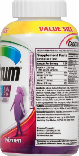 Centrum Women's Multivitamin Tablets Perspective: right