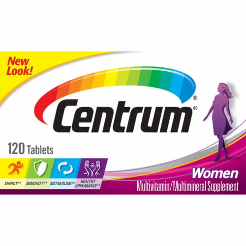 Centrum Women Multivitamin & Multimineral Supplement Tablets Perspective: right