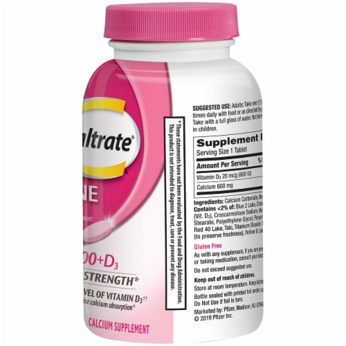 Caltrate Bone Health 600+D3 Tablets 600mg Perspective: right