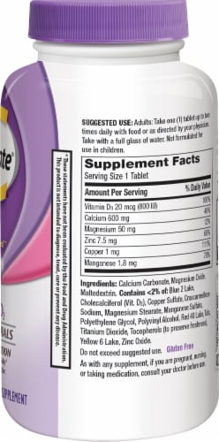 Caltrate Bone Health Advanced 600 + D3 Calcium Supplement Tablets Perspective: right