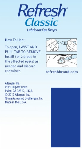 Refresh Classic Lubricant Eye Drops Perspective: right