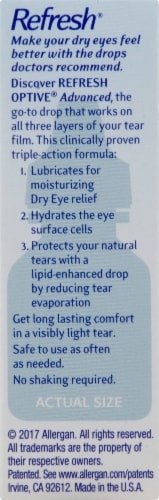 Refresh Optive Advanced Triple-Action Relief Lubricant Eye Drops Perspective: right
