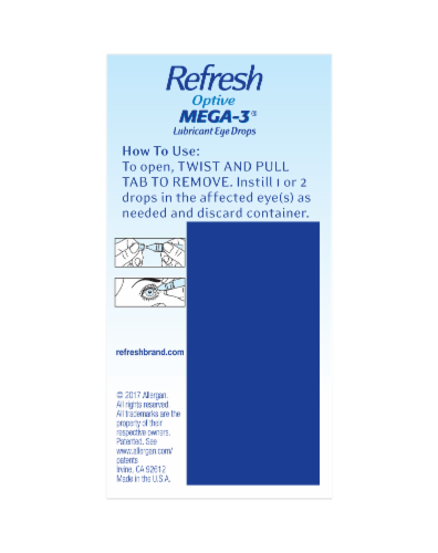Refresh Optive Mega-3 Lubricant Eye Drops Perspective: right