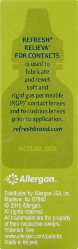 Refresh Relieva for Contacts Lubricant Eye Drops Perspective: right