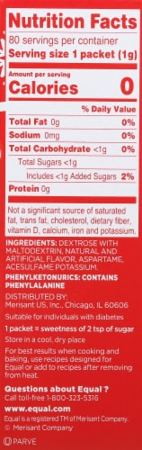 Equal Peppermint Mocha Zero Calorie Sweetener Packets 80 Count Perspective: right