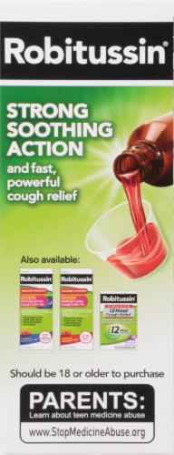 Robitussin Max Strength Blue Raspberry Nighttime Cough DM Liquid Perspective: right