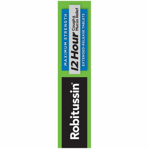 Robitussin 12 Hour Cough & Mucus Relief Extended-Release Tablets Perspective: right