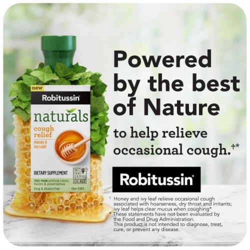 Robitussin Naturals Cough Relief Honey & Ivy Leaf Dietary Supplement Liquid Perspective: right