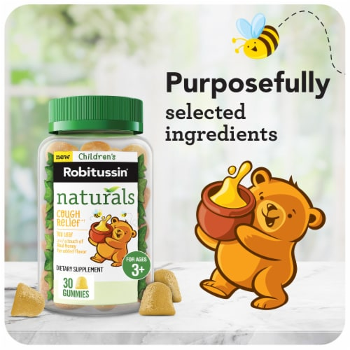 Robitussin Naturals Children's Ivy Leaf with Honey Cough Relief Gummies Perspective: right