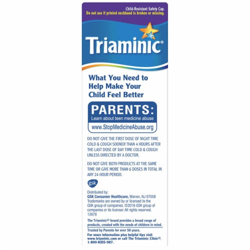 Triaminic Children's Combo Day/Night Cold & Cough Liquid Perspective: right