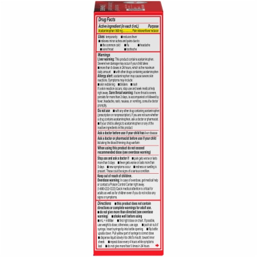 Infants' Tylenol® Grape Pain + Fever Oral Suspension Perspective: right