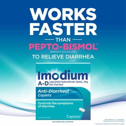 Imodium A-D Loperamide Hydrochloride Anti-Diarrheal Caplets 2mg Perspective: right