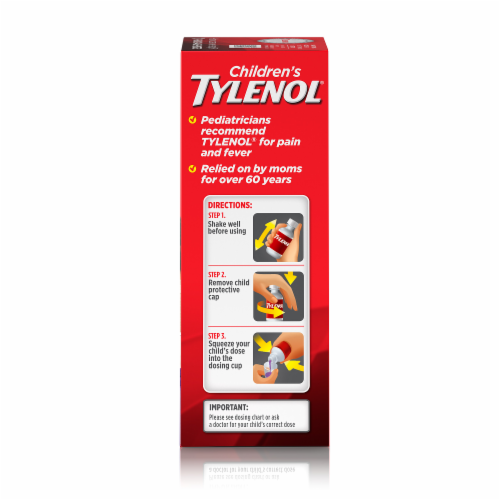 Tylenol Children's Grape Flavor Pain & Fever Liquid 160mg Perspective: right
