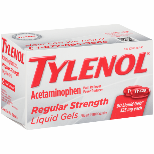 Tylenol Regular Strength Liquid Gels Perspective: right