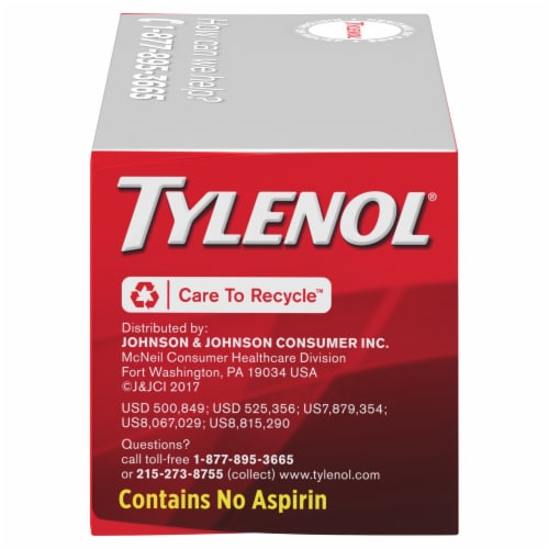 Tylenol Extra Strength Pain Reliever & Fever Reducer Rapid Release Gelcaps 500mg Perspective: right