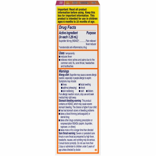 Motrin Infants' Drops Original Berry Flavor Ibuprofen Oral Suspension Perspective: right