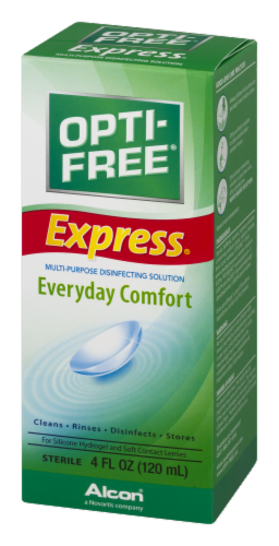 Alcon Opti-Free Express Everyday Comfort Multi-Purpose Solution Perspective: right