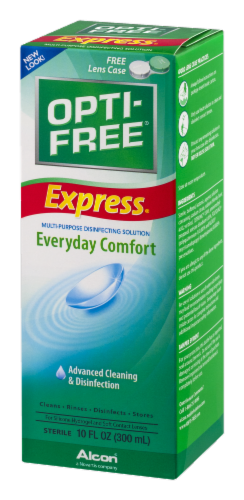 Alcon Opti-Free Express Everyday Comfort Multi-Purpose Disinfection Solution Perspective: right