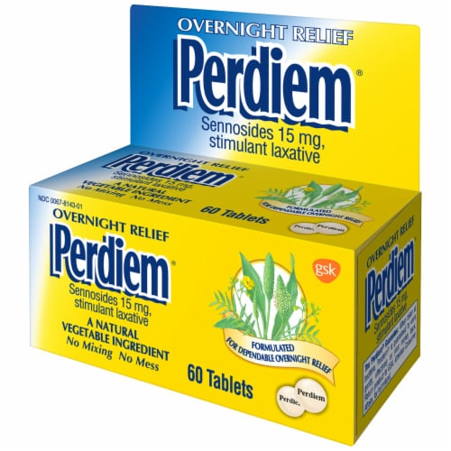 Perdiem Overnight Relief Stimulant Laxative Tablets 60 Count Perspective: right
