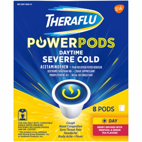 Theraflu Daytime Severe Cold Power Pods 8 Count Perspective: right